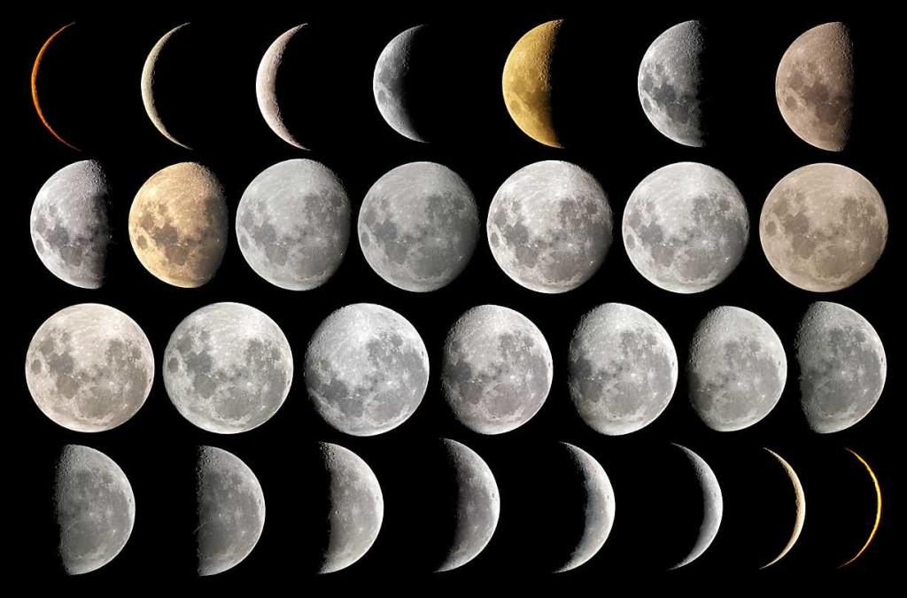 Phases of the Moon, NASA Archives, 1964