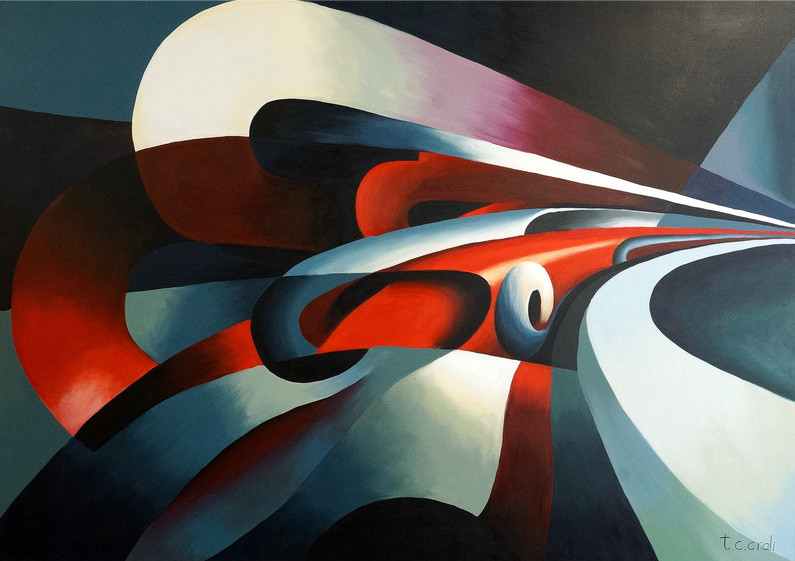 The Strength of the Curve, Tullio Crali,  Oil on canvas, 1930